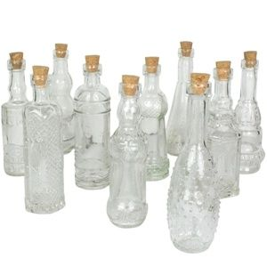 NEW Darice Set of 10 Glass Bottle Assorted, 5 Inch